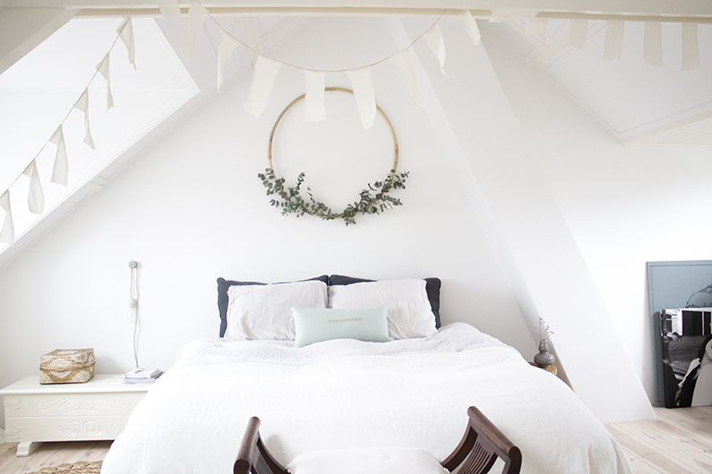 Slaapkamer zolder bohemian