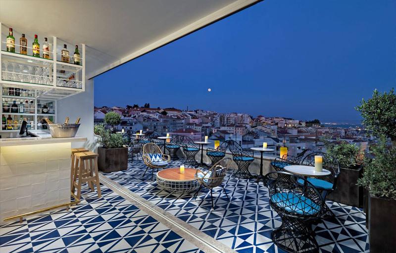 Hippe rooftop bar Lissabon