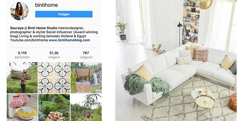 Instagram interieur inspiratie binthome