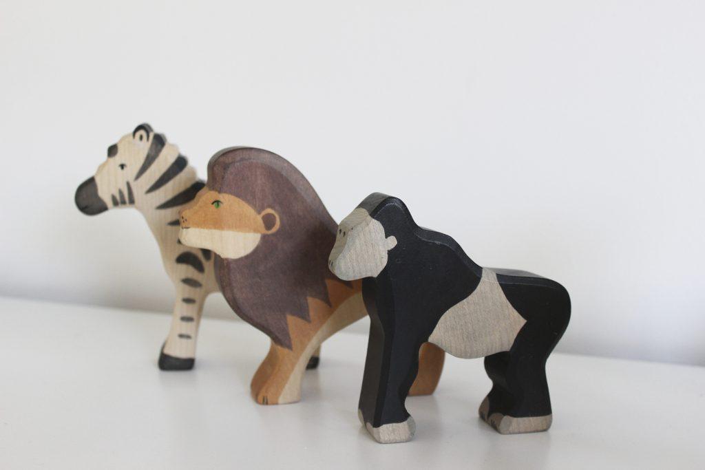 holztiger houten dieren