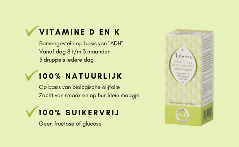 Natuurlijke vitamine D en K druppels baby
